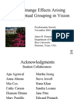 Several Strange Effects Arising From Perceptual Grouping