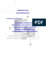 Programas del eje metodológico