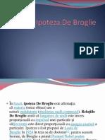FIZICA - Ipoteza de Broglie