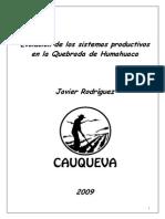 Evolución de Los Sistemas Productivos en La Quebrada de Humahuaca