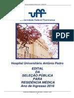 Edital Residência Médica UFF