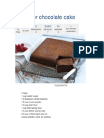 No Butter Chocolate Cake