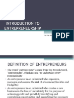 Note Pb201 Entrepreneurship Chapter1