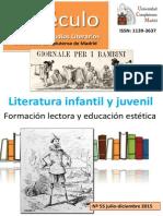 LIJ Formacion Lectora Educacion Estetica Especulo 55 UCM 2015