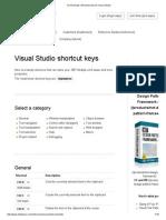 Vs Shortcuts _ Shortcut Keys for Visual Studio