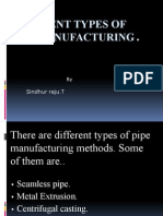 Types of Pipe Manufacturing Process
