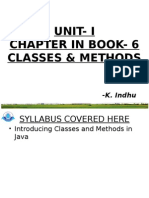 Chapter6 IntroducingClasses&Methods