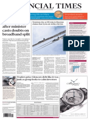 Financial Times UK Ed 2015-10-01 | Monetary Policy | Central Banks