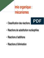 Chimie Organique Mécanismes