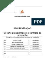 ATPS Planejamento e Controle Da Producao