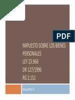 Bienes Personales 2015