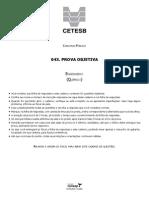 Vunesp 2013 Cetesb Engenheiro-quimico Prova