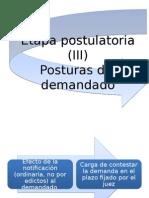 DER.PROC.CIVIL I - Postulacion III Demandado
