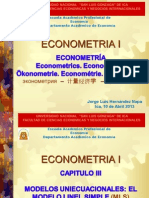 1. Modelo Lineal Simple Teoría 2014 Ojo-econometria