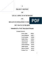 Project on Reliance Buyback