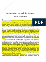 Psychoanalysis and the Corpse Copy