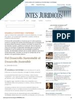 APUNTES JURIDICOS™_ DESARROLLO SUSTENTABLE Y SOSTENIBLE