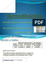 Termodinámica Gases Ideales y Reales
