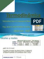 Termodinámica Gases Ideales y Reales