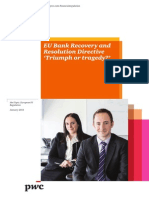 Pwc Eu Bank Recovery and Resolution Directive Triumph or Tragedy