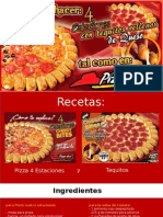 Receta de Pizza 4 Estaciones Con Tequitos