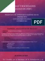Diapositivas  de empresas  y sociedades en los NIIF