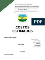INFORME COSTOS ESTIMADOS