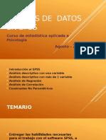 Análisis de Datos Estadísticos en Spss