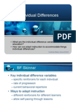 Summary Individual Differences
