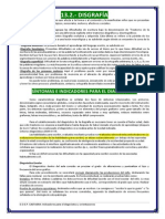 Indicadores Para El Diagnóstico y Orientaciones de La Disgrafía