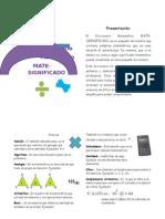 Diccionario Matemático