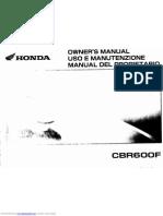 cbr600f MANuAL