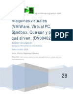 DV00402A Maquinas Virtuales Vmware Virtual Pc Sandbox Particion Ordenador