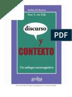 Discurso y Contexto Teun Adrianus Van Dijk