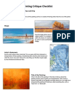 Painting Critique Checklist