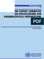 WHO Techmical Report Series No-943 Pharma Preparations 2007