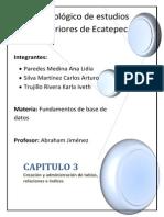 Capitulo 3 Creacion y Administracion de Tablas Relaciones e Indices