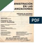 Kast Rosenzweig Administracion en Las Organizaciones - Capitulo 5