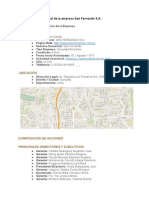 Diagnóstico Empresarial de La Empresa San Fernando S