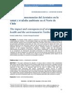 Impactos consecuencias arsenico Norte Chile