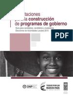 Construcción de programas de gobierno