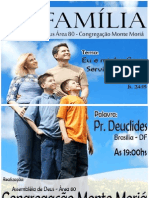 Cartaz Culto Da Familia