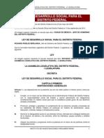 Ley de Desarrollo Social Para el Distrito Federal