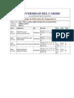 Calendario de Unicaribe- Cuatrimestre de AGOSTO