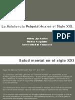 La Asistencia Psiquiátrica en El Siglo XXI. Clasificación en Psiquiatría UV 2015