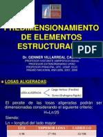 Predimensionamiento de Elementos Estructurales Genner