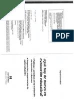 Sverdlick I. 2012 Qué Hay de Nuevo en La Evaluación Educativa Autoevaluación Institucional