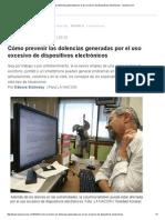 Cómo Prevenir Dolencias Uso Dispositivos Electrónicos