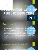 Accountability of Public Officers