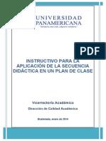 Instructivo Secuencia Didactica